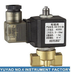 China Stainless Steel 3 Way Solenoid Valve Normally Open , High Pressure 1/4'' Solenoid Valve supplier