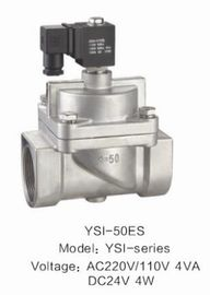 Mini Low Power Solenoid Valve , Stainless Steel Electric Water Valve No Noise