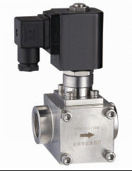 "Normally Open NO High Pressure Gas Solenoid Valve , 3/8""Electromagnetic Solenoid Valve"