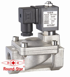 "China Stainless 2 Way Solenoid Water Valve , 3/8"" Electric Solenoid Valve For Water factory"