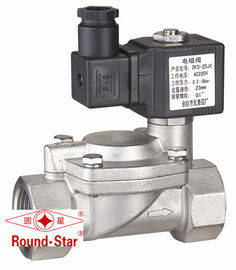 China 2 Way Low Voltage Solenoid Water Valve Stainless Steel 3 Inch Pilot Operated factory