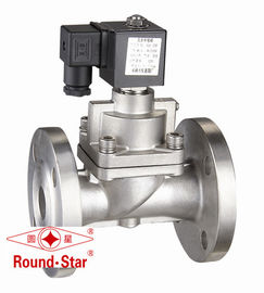 SS High Pressure Solenoid Valve Normally Closed , 40mm Solenoid Valve Pilot Operated